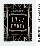 art deco vintage invitation... | Shutterstock .eps vector #1546266638