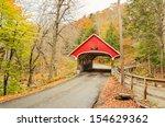 Covered Bridge In Franconia In...
