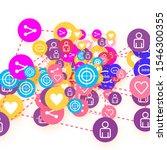 social media marketing ... | Shutterstock .eps vector #1546300355