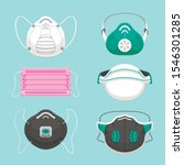protective medical masks flat... | Shutterstock .eps vector #1546301285