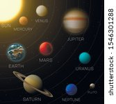 solar system model educational... | Shutterstock .eps vector #1546301288