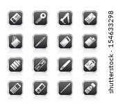 simple vector object icons  ... | Shutterstock .eps vector #154633298