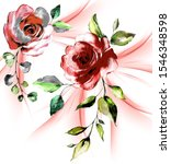 Roses Pattern With Motion Blur...