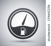 vector fuel gauge icon | Shutterstock .eps vector #154642256