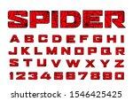 Spider Font. Spiderman Alphabet....