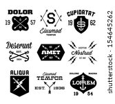 vintage labels with arrow ... | Shutterstock .eps vector #154645262