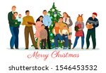 the family gathered for... | Shutterstock .eps vector #1546453532