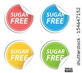colorful sugar free stickers... | Shutterstock .eps vector #154647152