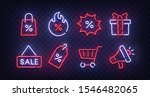black friday icon set isolated. ... | Shutterstock .eps vector #1546482065