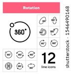Rotation Line Icon Set. Set Of...