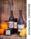 potion bottles with pumpkins...   Shutterstock . vector #154650188