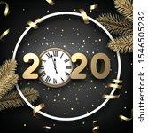 black shiny happy new year... | Shutterstock .eps vector #1546505282