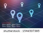 2d rendering red map pointer | Shutterstock . vector #1546507385