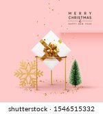 christmas background. xmas... | Shutterstock .eps vector #1546515332