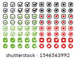 check marks with crosses vector ... | Shutterstock .eps vector #1546563992