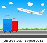 time to travel tourism poster... | Shutterstock .eps vector #1546590032
