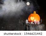 Halloween Pumpkin With Heart....