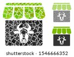 cow farm mosaic of tuberous... | Shutterstock .eps vector #1546666352