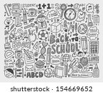 hand draw doodle school element | Shutterstock .eps vector #154669652