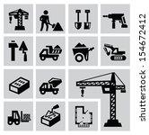 vector black construction icon...