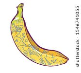 banana with tattoos... | Shutterstock .eps vector #1546741055
