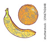 banana and orange with... | Shutterstock .eps vector #1546742648