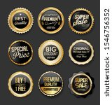 black and gold badges... | Shutterstock . vector #1546756352