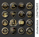 black and gold badges... | Shutterstock . vector #1546756355