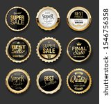 black and gold badges... | Shutterstock . vector #1546756358