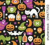 halloween seamless pattern | Shutterstock .eps vector #154677152
