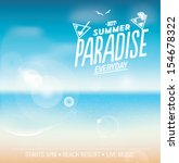 summer paradise background with ... | Shutterstock .eps vector #154678322