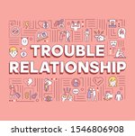 trouble relationship word...