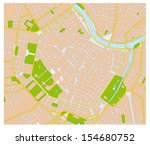 vienna city map | Shutterstock .eps vector #154680752