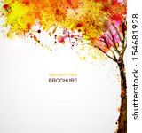 autumn abstract tree forming by ... | Shutterstock .eps vector #154681928