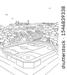 illustration of a sports field... | Shutterstock .eps vector #1546839338