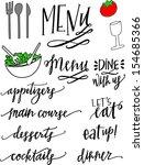 dinner party set | Shutterstock .eps vector #154685366