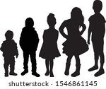 vector silhouette of children... | Shutterstock .eps vector #1546861145
