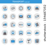 icons set about transport. flat ...