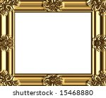 vector decorative gold frame ... | Shutterstock .eps vector #15468880