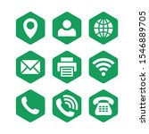 green business icons set design ...