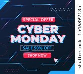 cyber monday concept in flat... | Shutterstock .eps vector #1546892135