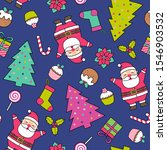 cute santa claus  pine tree and ...   Shutterstock .eps vector #1546903532