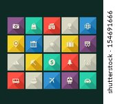 trend tourism icons with long...