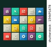 trend web icons with long...