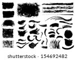 collection of abstract grungy... | Shutterstock .eps vector #154692482