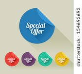 flat design sale discount... | Shutterstock .eps vector #154692692