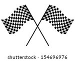 two racing flags isolated on... | Shutterstock . vector #154696976