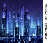 night city illustration with... | Shutterstock .eps vector #1546986932