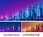 night city illustration with... | Shutterstock .eps vector #1546986938