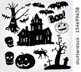 halloween stuff | Shutterstock .eps vector #154699658